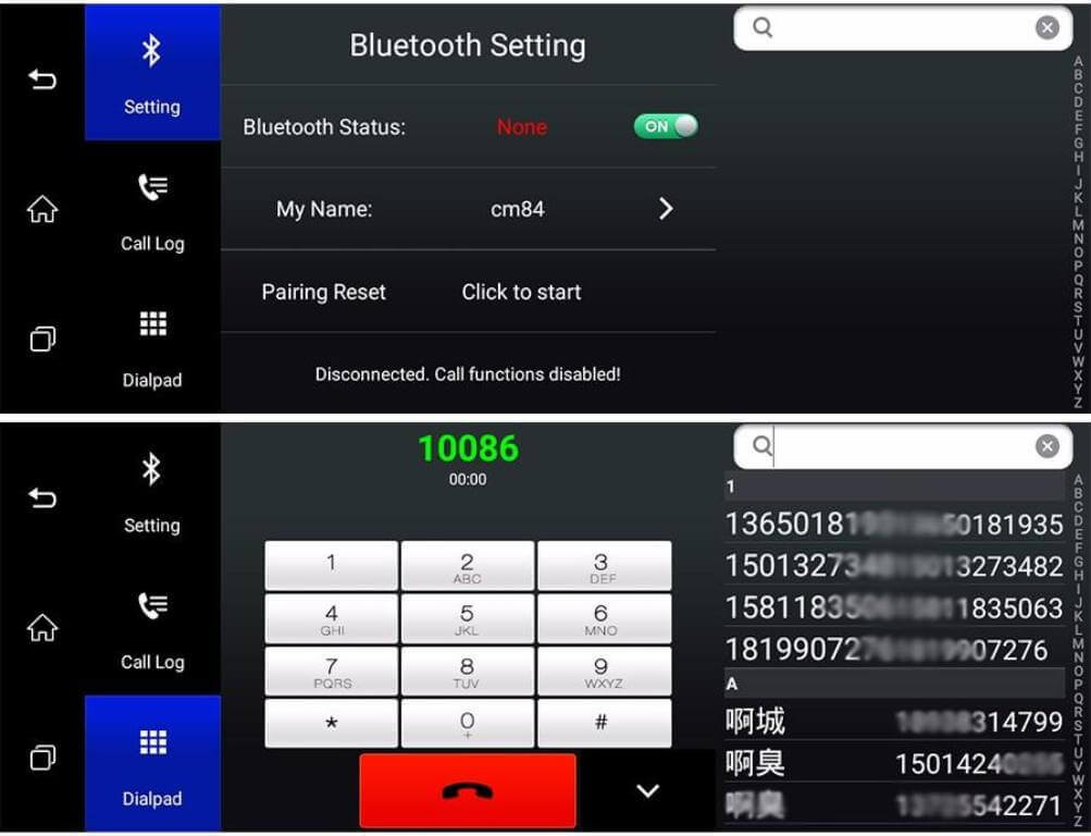 Настройки bluetooth и телефона
